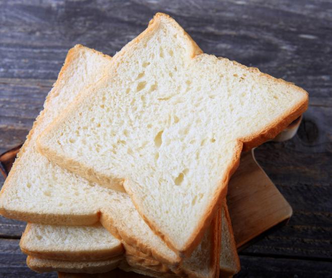 White sliced bakery bread