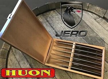 Jero 6 PC Steak Knife Set in Cigar Display Box