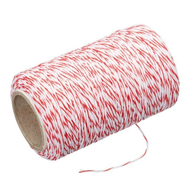 Butcher's Twine with Cutter Red & White