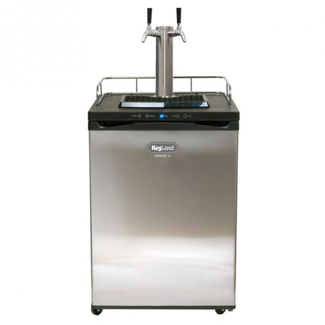 2 Tap Kegerator with 2.6kg COS and D Coupler